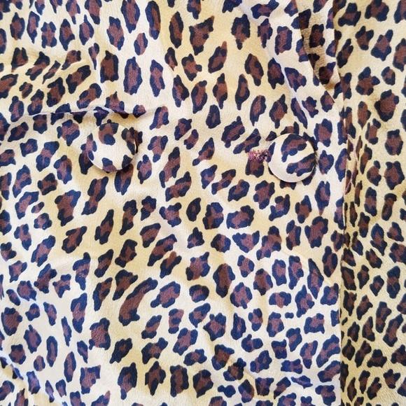 6ecfdd551e8c Vintage Tops   Lord Taylor Leopard Print Silk Blouse   Poshmark